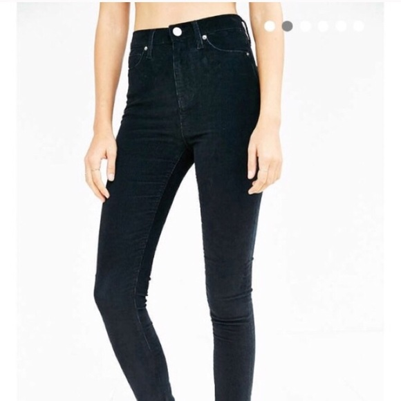 special section new season select for latest black high waisted corduroy pants urban outfitters